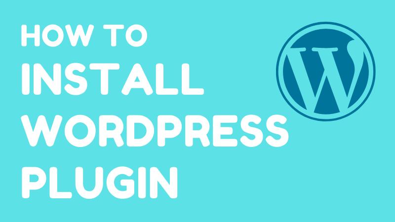 intall wordpress plugin